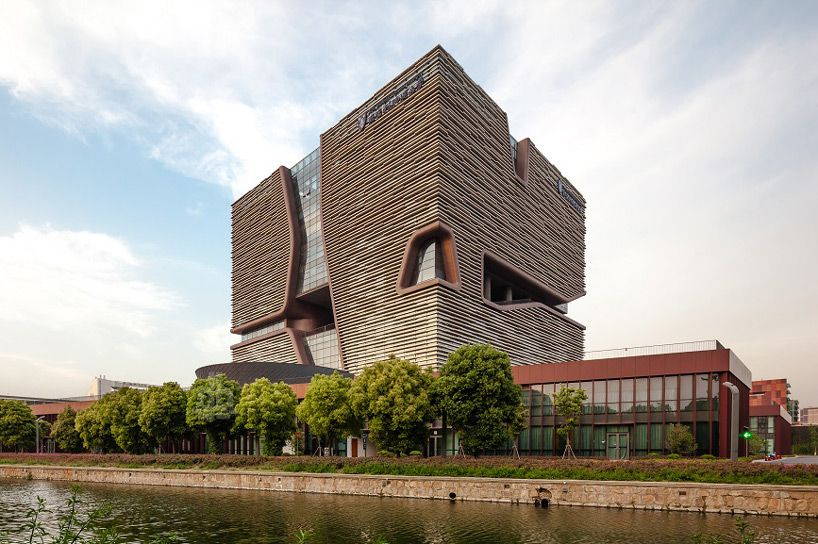 admin building at xi'an jiaotong-liverpool university campus by Aedas - designboom | architecture