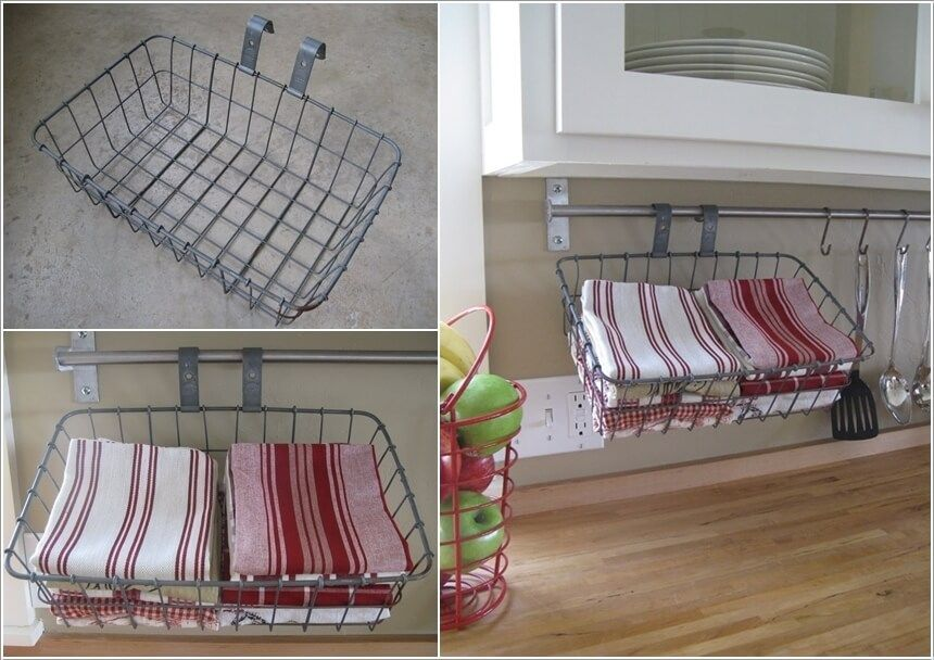 15 clever kitchen towel storage ideas 11 how to s towel storage rh pinterest com Cute Kitchen Towel Storage Ideas Kitchen Towel Organization