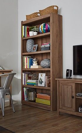 Sauder Salted Oak Bookcase Is Perfect For Displaying Your Favourite Books And Dcor In Living Room Home Office Or