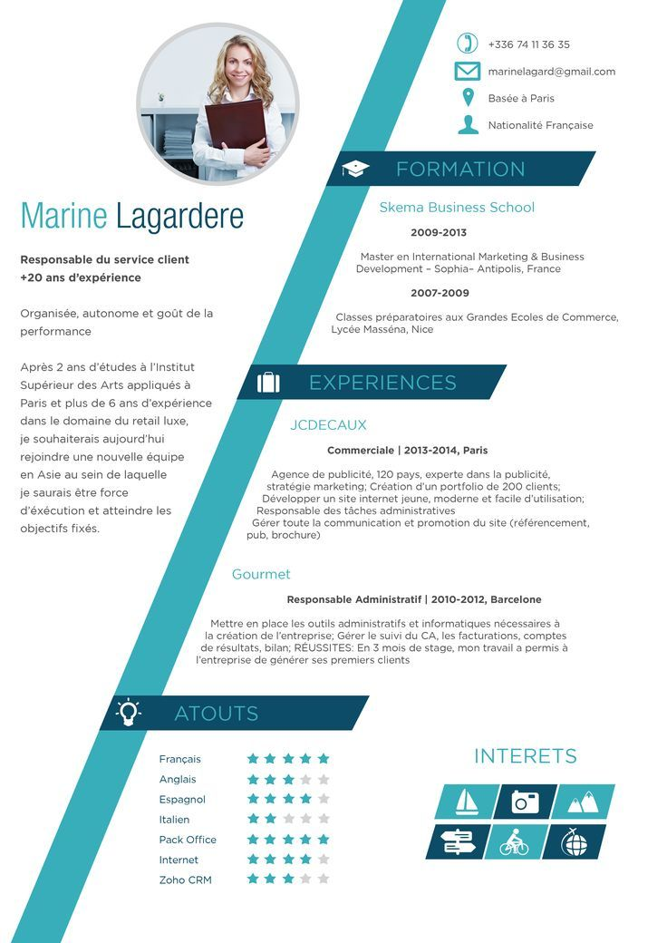 cv gratuit modifiable original et classe