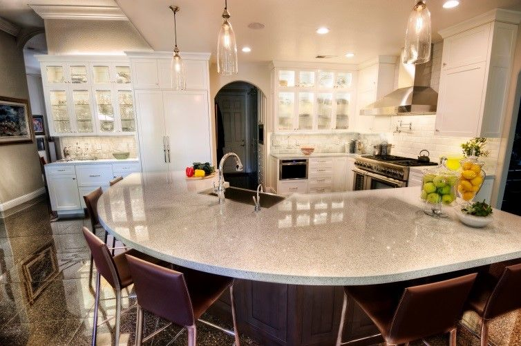 The ideal kitchen setup for entertaining friends and family.
