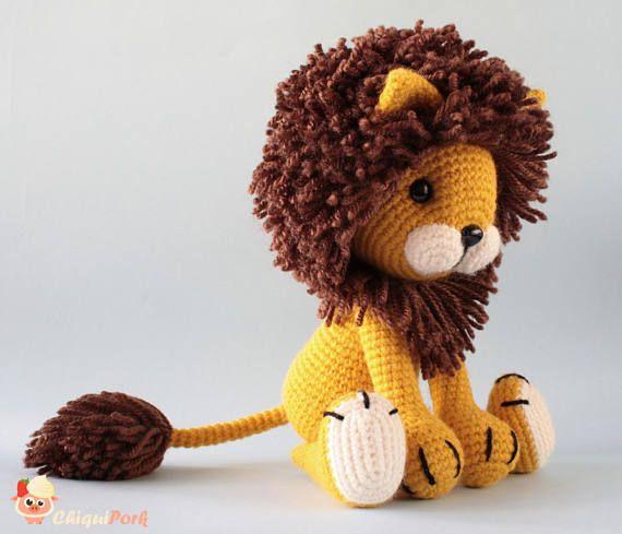 Crochet Lion pattern - Amigurumi pdf tutorial - TYRION the lion ...