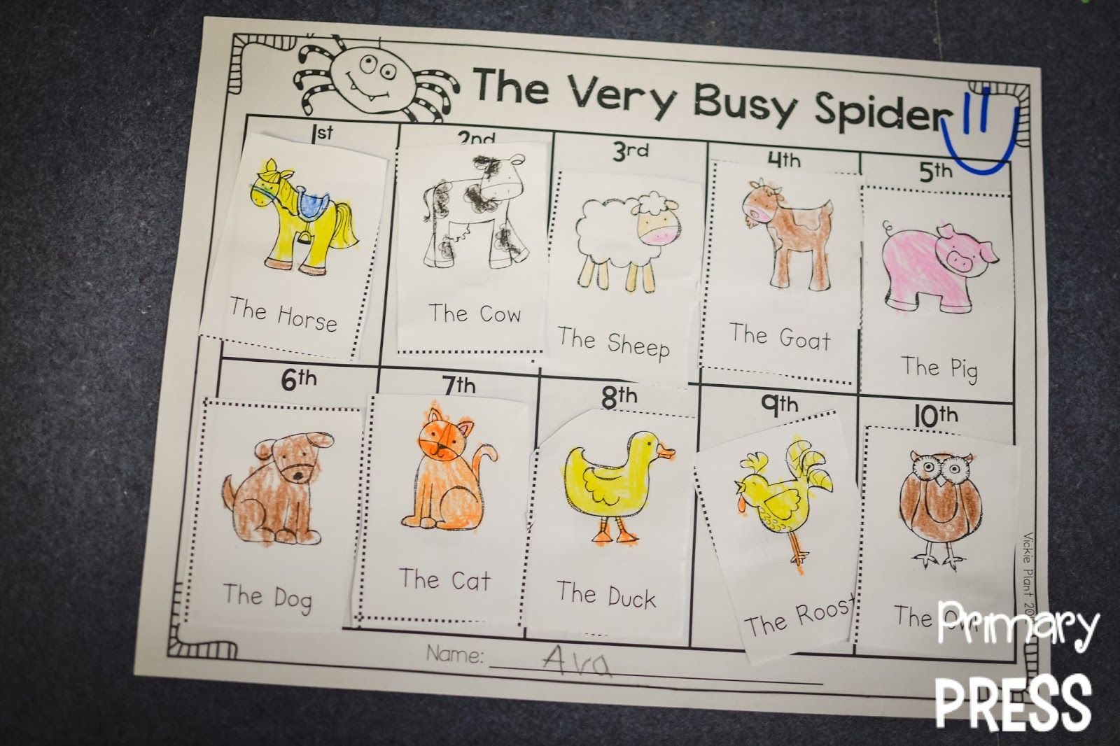 Story Time & Crafts The Very Busy Spider