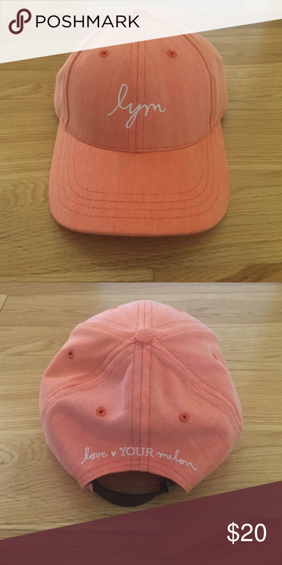 e0775f0843e71 Brand New Love Your Melon Baseball Cap Bought but never worn because I  didn t like the way it looked on me. A very cute orange color.