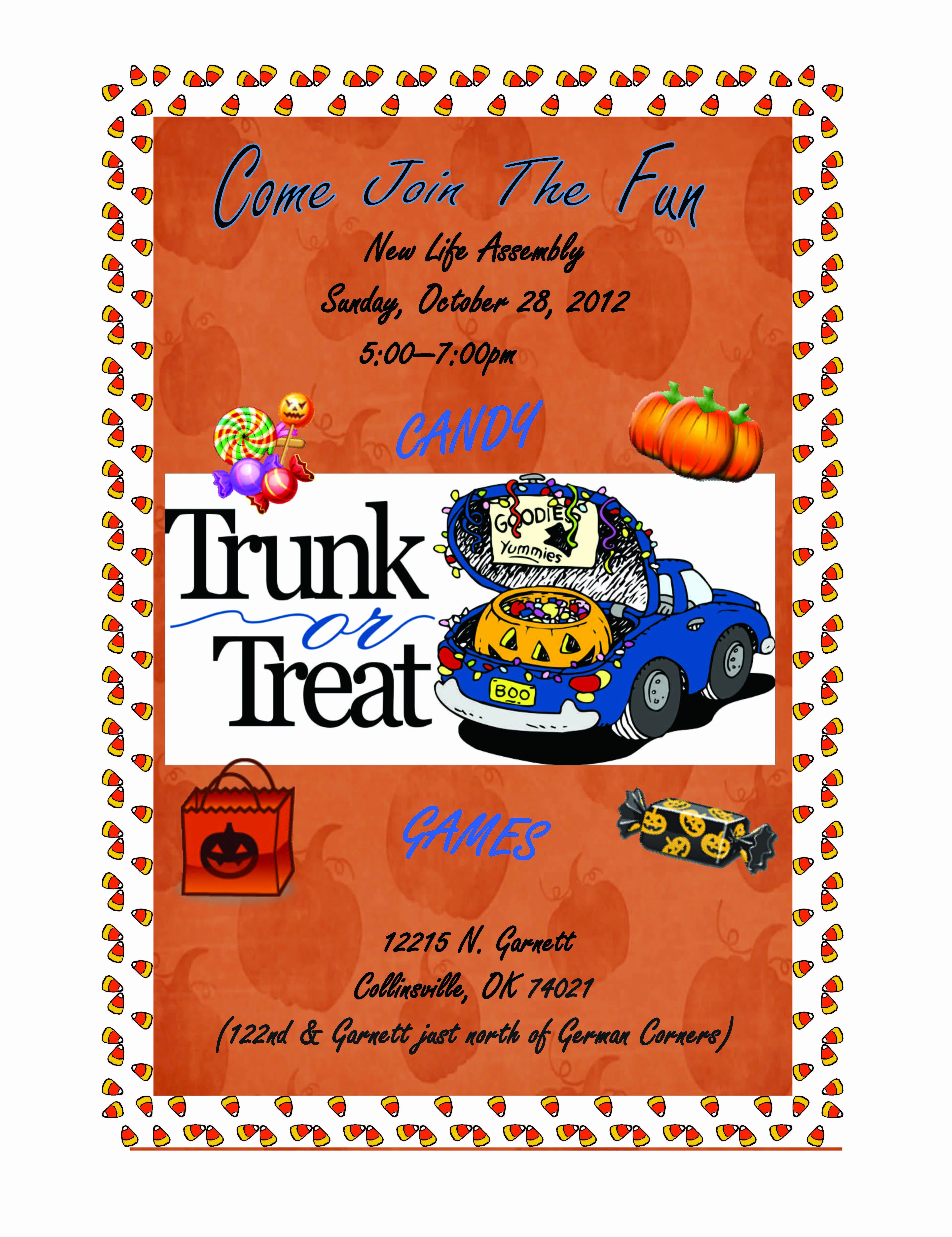 Trunk Or Treat Flyer Instant Download Halloween Template Etsy Party Invite Template Trunk Or Treat Halloween Templates