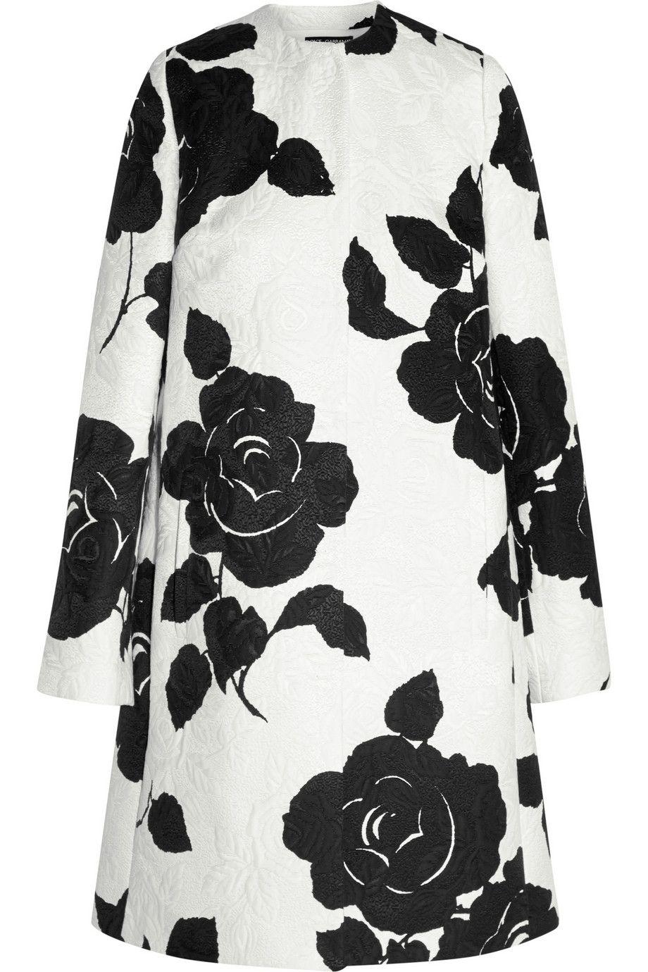 53e0cd10b90 Dolce & Gabbana | Floral-print cotton-blend jacquard coat | NET-A-PORTER.COM