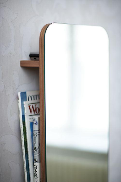 Förvara Se Spegel Med Förvaring, Valnöt Förvaring Förvara Oppbevaring Opbervare Opbevaring
