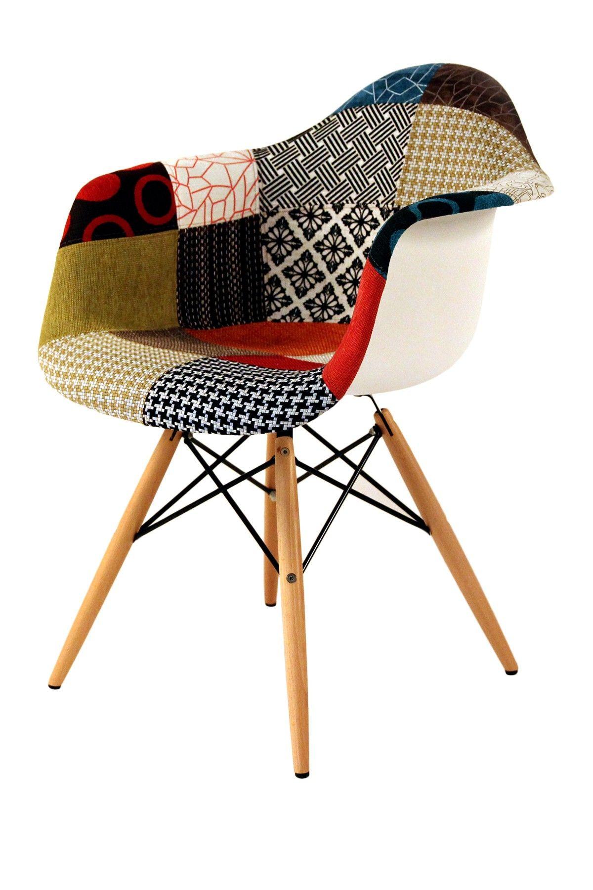 Mid Century Classics From Control Brand Eames Patchwork Arm Chair Hautelook Chaise Design Deco Design Mobilier De Salon