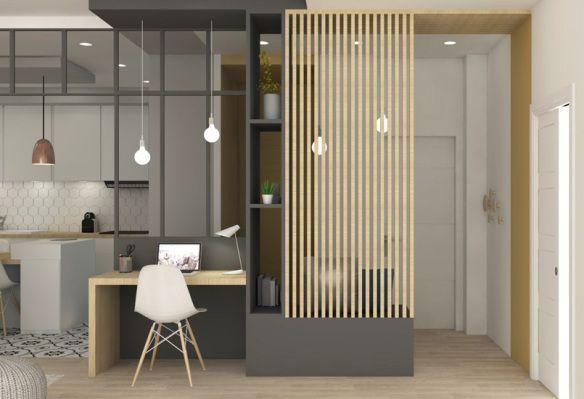 Rénovation Marion Lanoë, coin bureau salon | Home decor | Pinterest ...