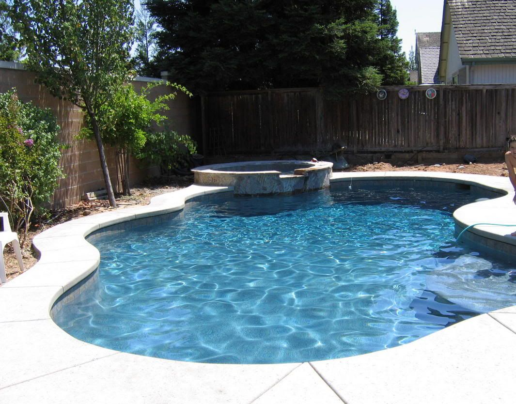 Small backyard pool landscaping landscaping ideas for Pool landscapes ideas pictures