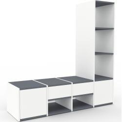 Photo of Regalsystem Weiß – Regalsystem: Schubladen in Weiß & Türen in Weiß – Hochwertige Materialien – 156 x