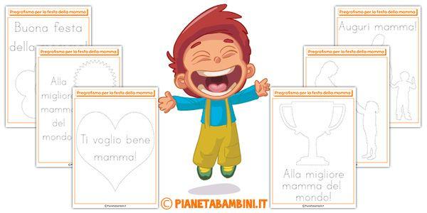 Schede Di Pregrafismo Per La Festa Della Mamma Didattica Per