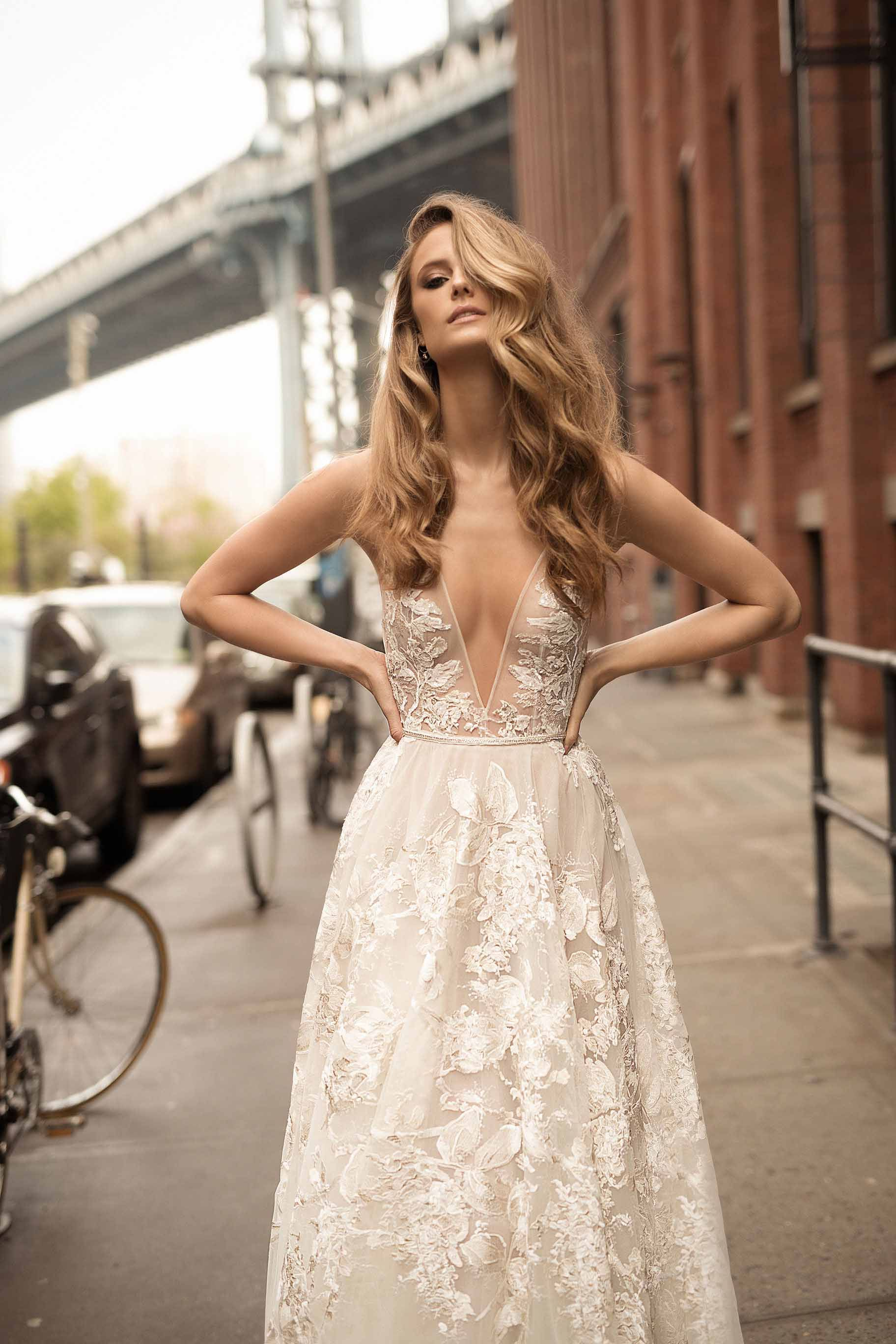 Latest berta wedding dresses spring collection rustic