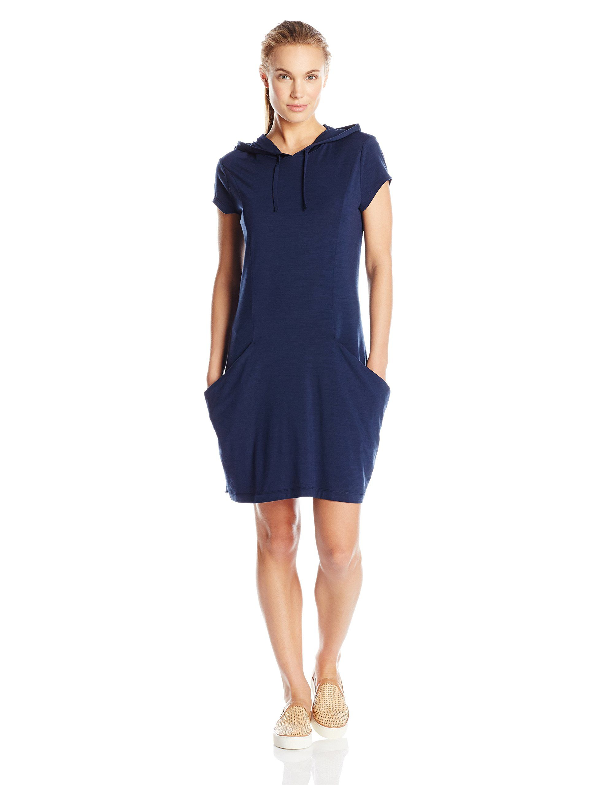 040b974a8f Icebreaker Womens Yanni Hooded Dress Admiral Heather Large -- To view  further for this item, visit the image link. (This is an affiliate link)
