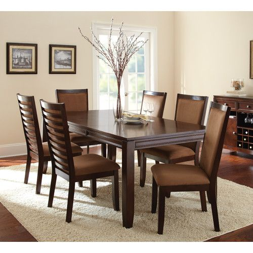 Found It At Wayfair 7 Piece Dining Set Solid Wood Dining Set Rectangular Dining Table Dining Table Setting