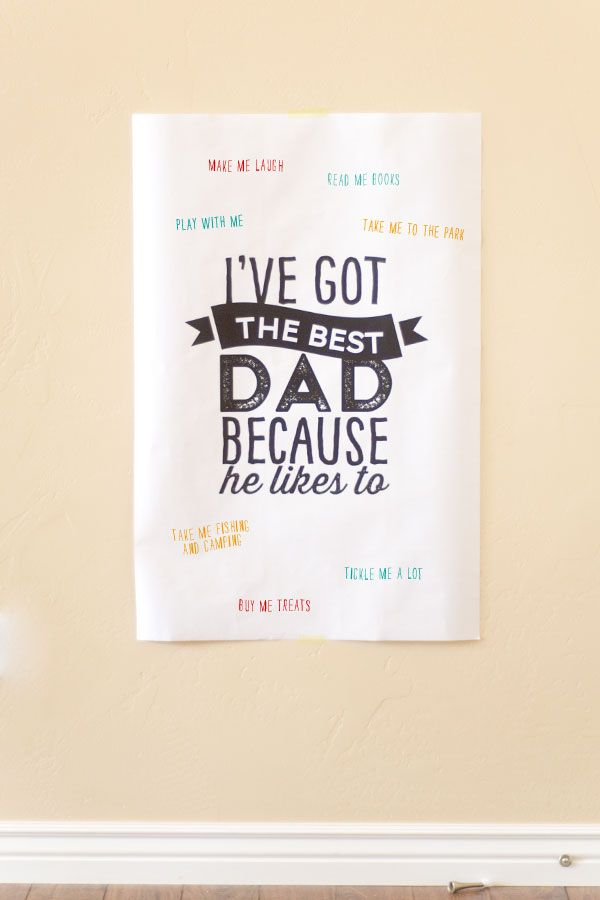 Free Printable Father S Day Poster Such A Cute Idea To Do With