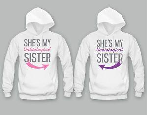 Cute Best Friend Hoodies Un Biological Sisters Bffs Matching Hoodies