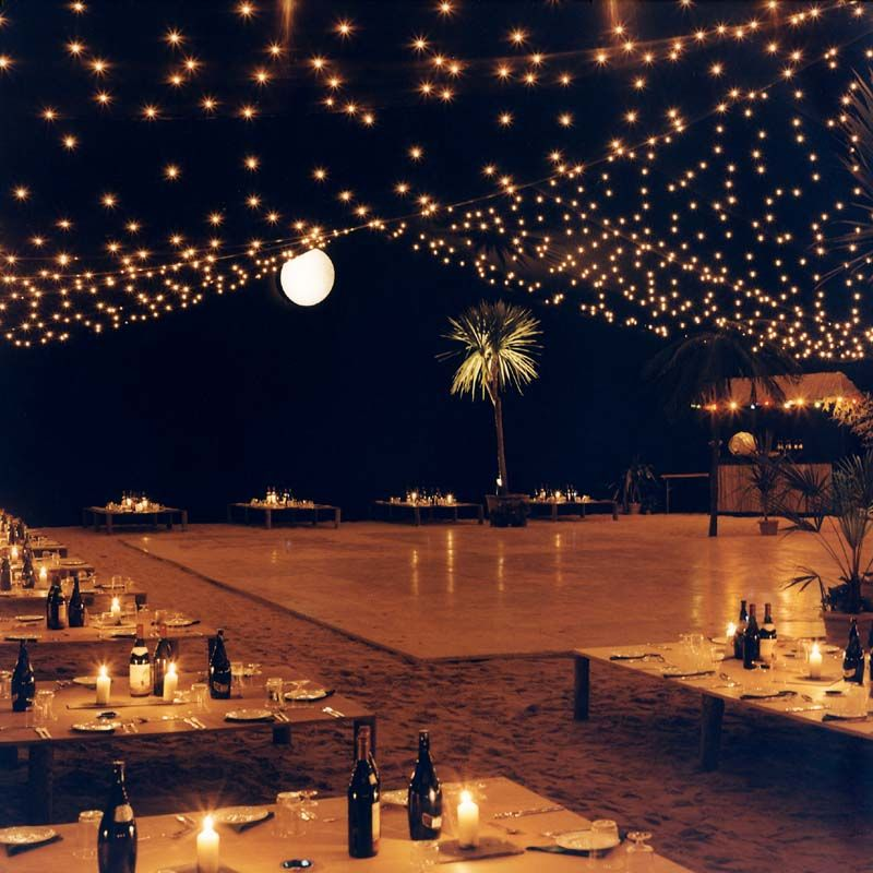 Beach Wedding Ceremony Playlist: I Love How The Lights Look Like Stars!