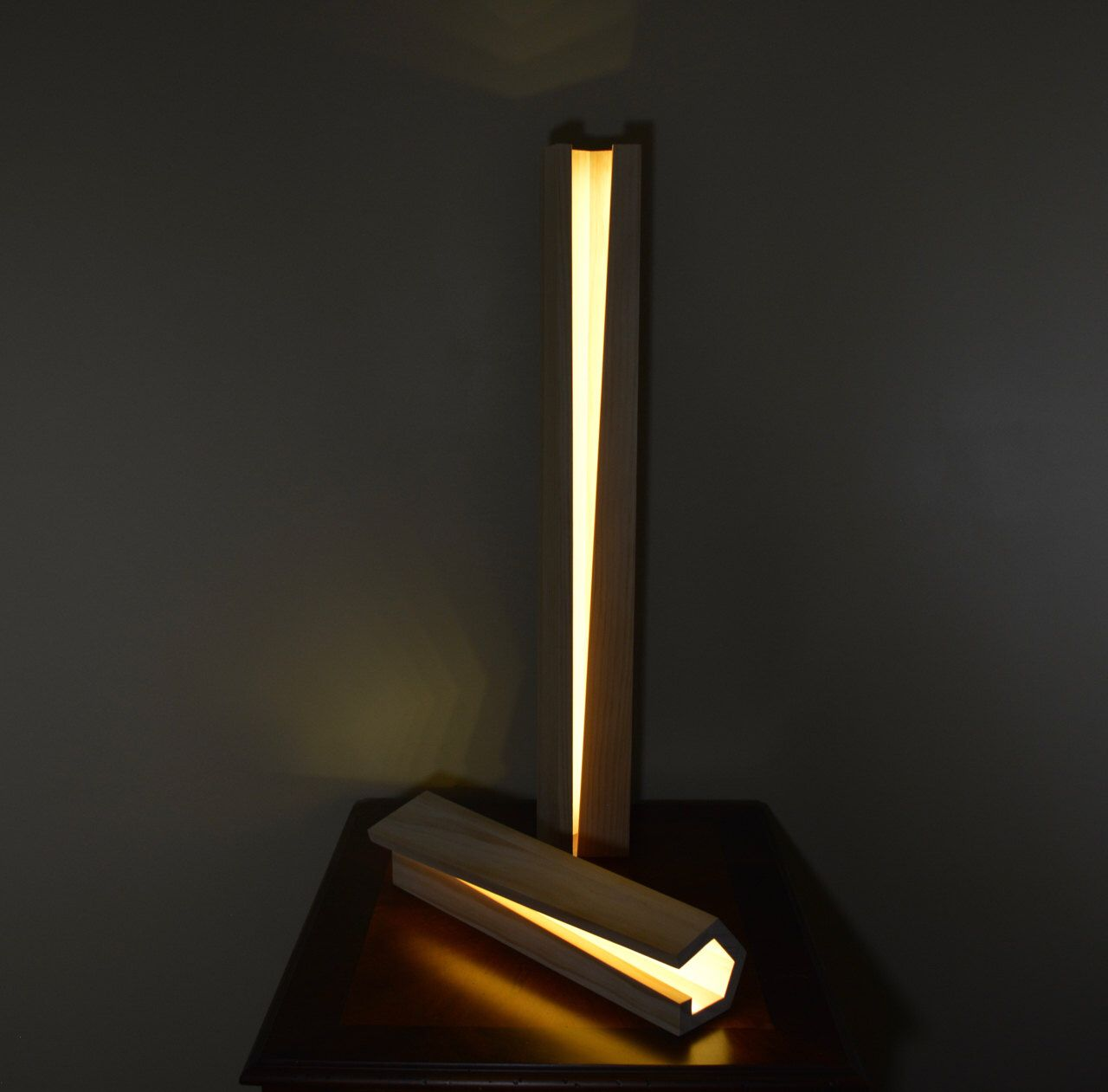 Modern Wood Lamp by NomadWoodworkingShop on Etsy https://www.etsy.com/listing/234435081/modern-wood-lamp