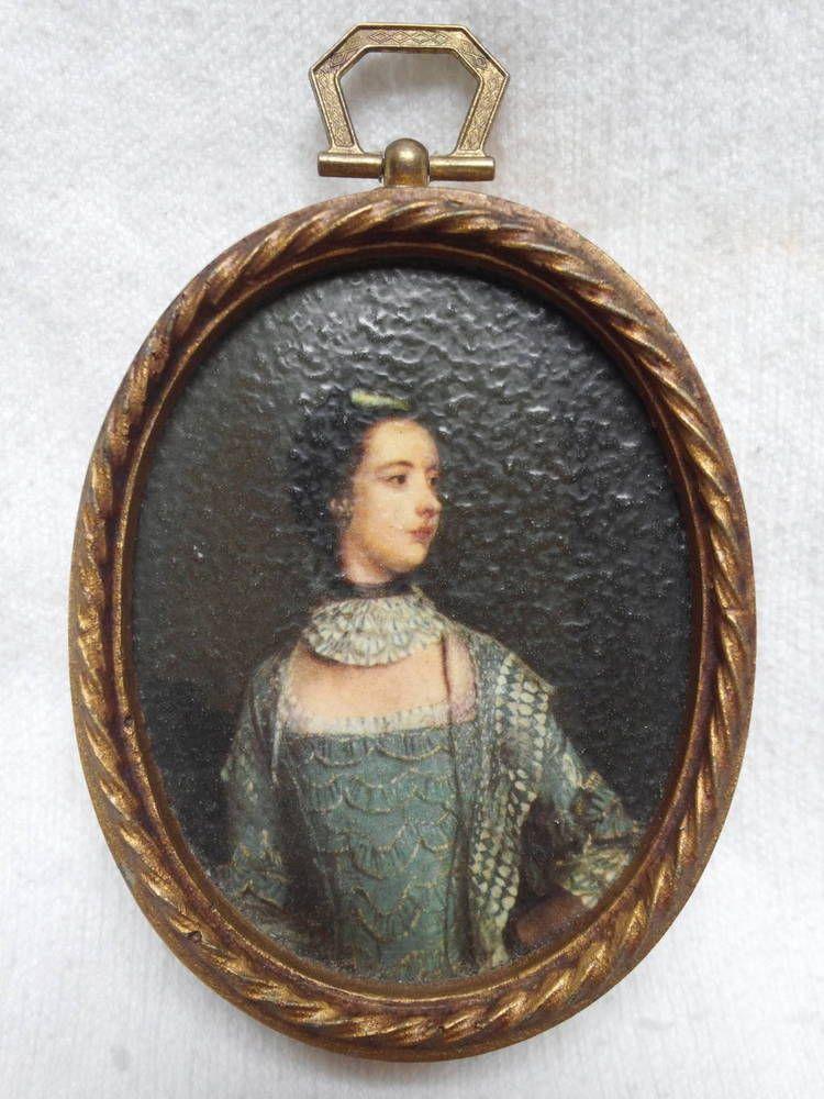 For sale 599 antique french miniature portrait oil