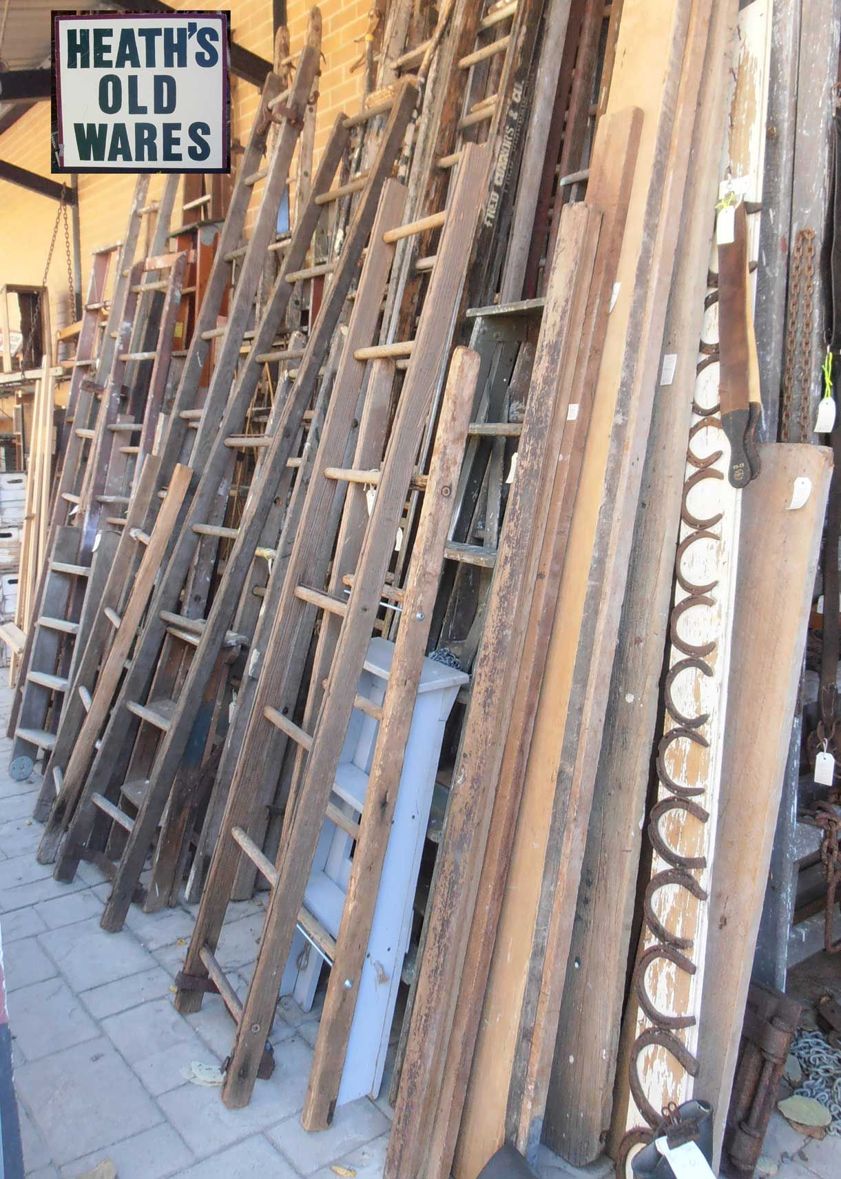 Antique And Vintage Ladders For Sale At Heaths Antiques Bangalow Wooden Ladder Vintage Ladder Antiques