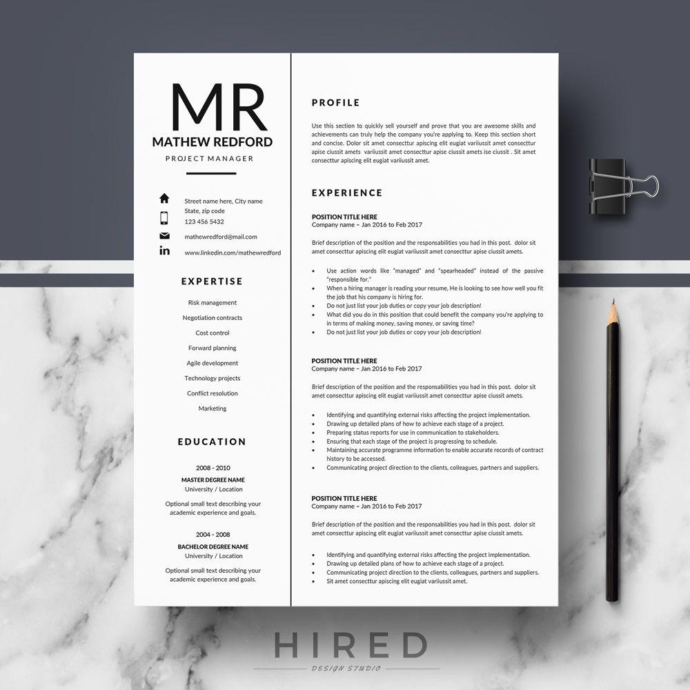Professional Resume Templates Minimalist Resume Cv Template Etsy Resume Template Professional Resume Templates Resume Layout