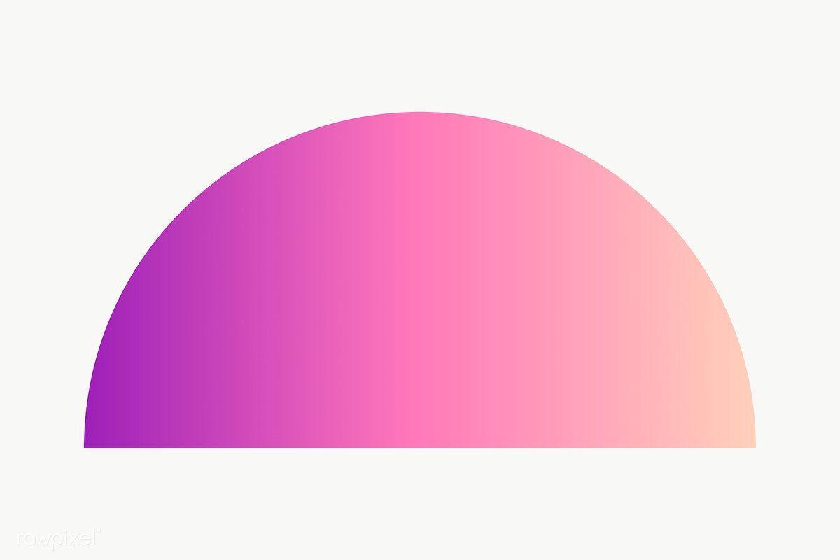 Purple Gradient Semicircle Geometric Shape Transparent Png Free Image By Rawpixel Com Ningzk V Geometric Shapes Geometric Printable Designs