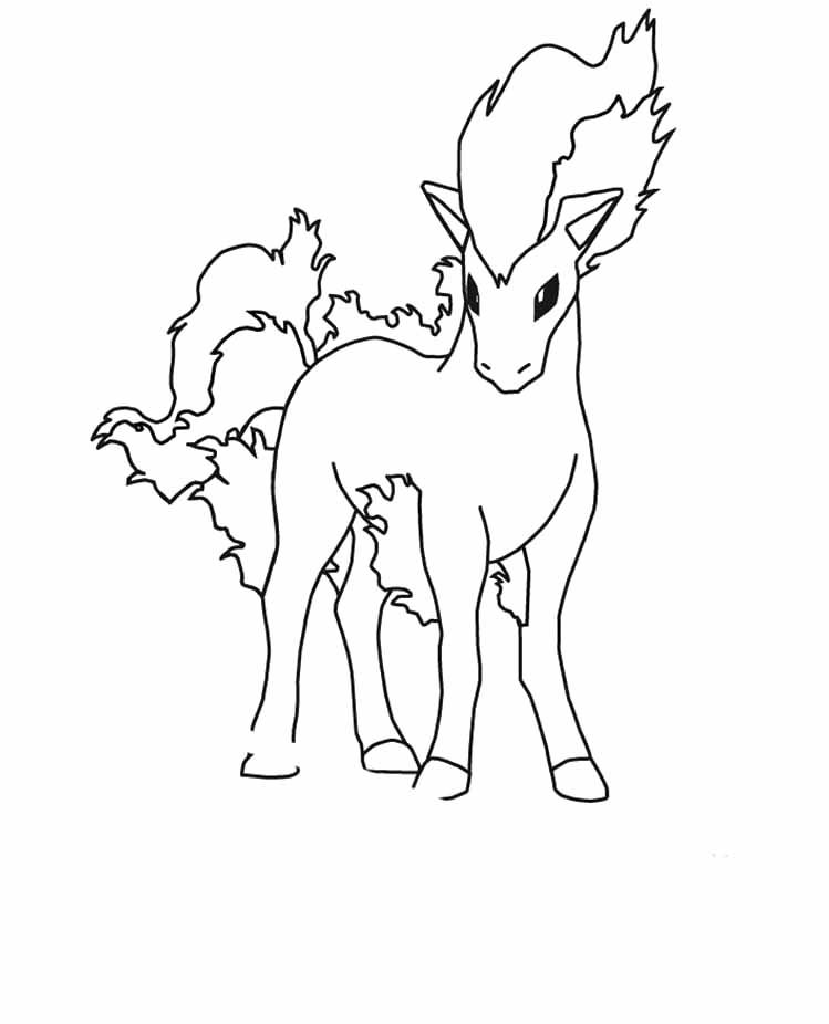 Pokemon ponyta coloring pages