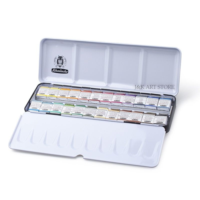 Schmincke Horadam Aquarell Finest Artist Watercolor Set 24 Colors