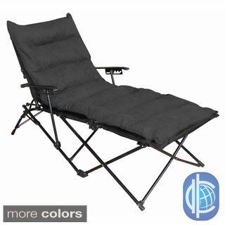 High Quality International Caravan Indoor/ Outdoor Folding Chaise Lounge Chair With  Microsuede Seat Cover   Overstock Shopping   Great Deals On International  Caravan ...