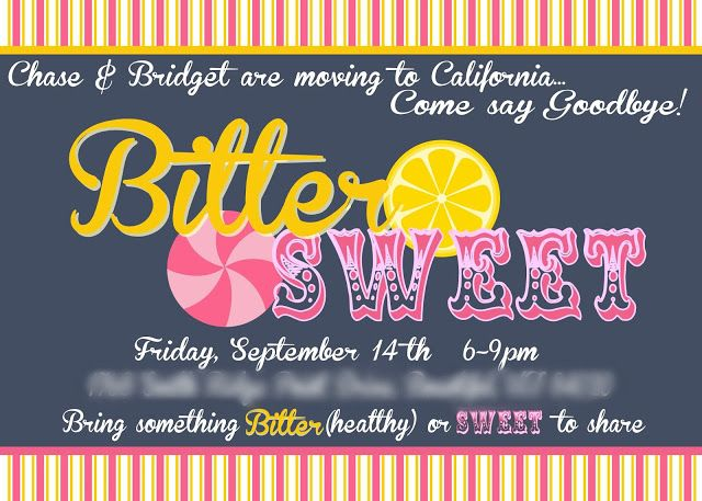 Bittersweet Goodbye Party Invite Farewell Party Going