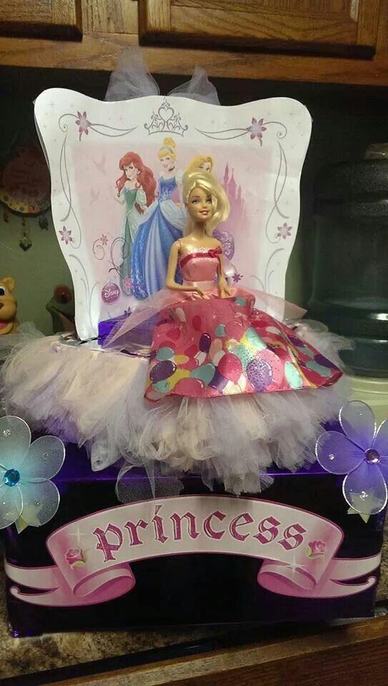 Barbie princess shoebox float school projects for Princess float ideas