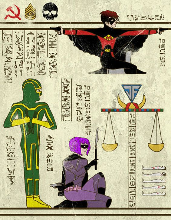 Josh Lane Combines Ancient Egyptian Gods With Modern Geek Gods