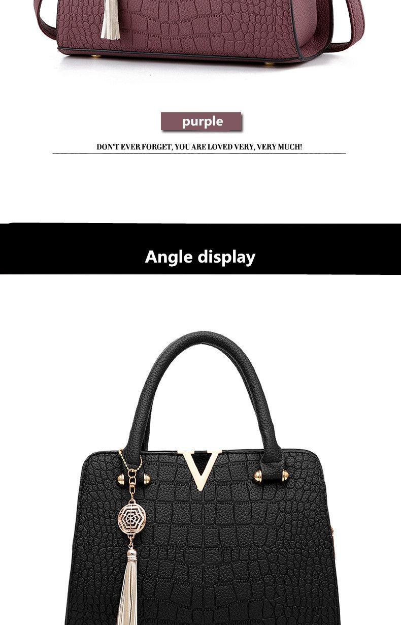 6320fe8b79bd  42.9 - Cool Luxury Crocodile leather women handbags Famous brands designer  women messenger bags female fringed