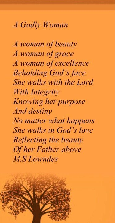 Proverbs Woman ..God is the source of all this Godly woman ...