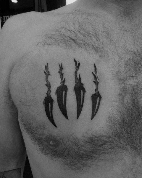 Bear Claw Tattoo On Chest : tattoo, chest, Small, Chest, Tattoo, Sleeves,, Tattoo,, Designs