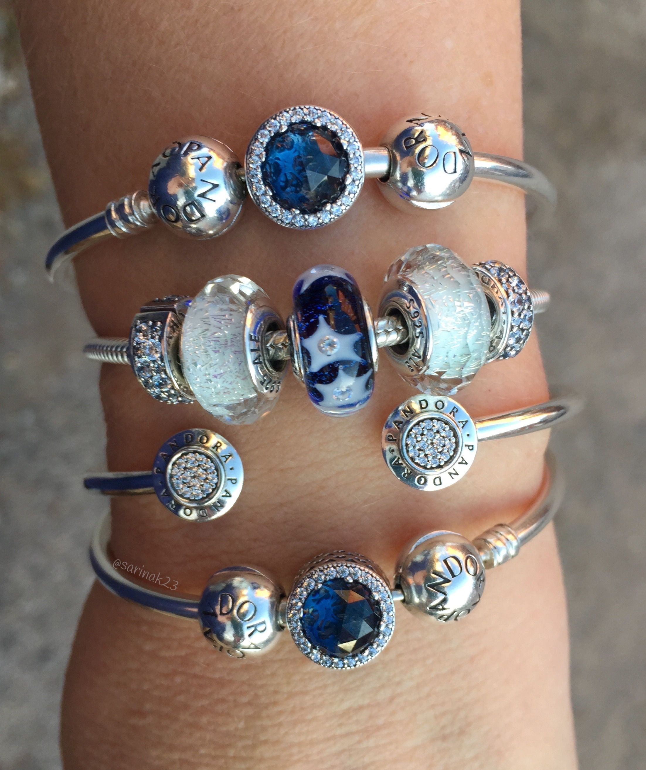 e4c7b18c1 The new Starry Night Murano Glass bead is one of my new favourites! Love  this Pandora Winter 2016 Collection❄️