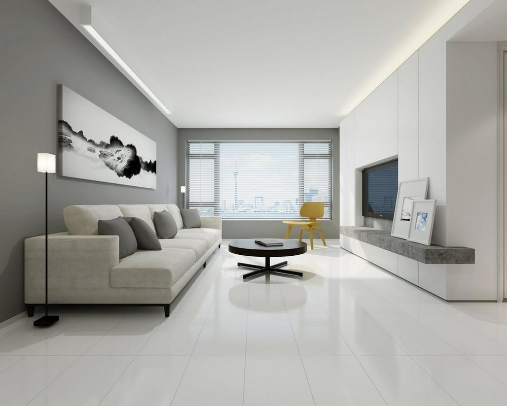 Super White Porcelain Tile White Porcelain Tile Living Room