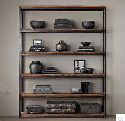 Francês de madeira americano estante de madeira prateleira estante vitrine prateleira de ferro em Pratos giratórios de Móveis no AliExpress.com | Alibaba Group