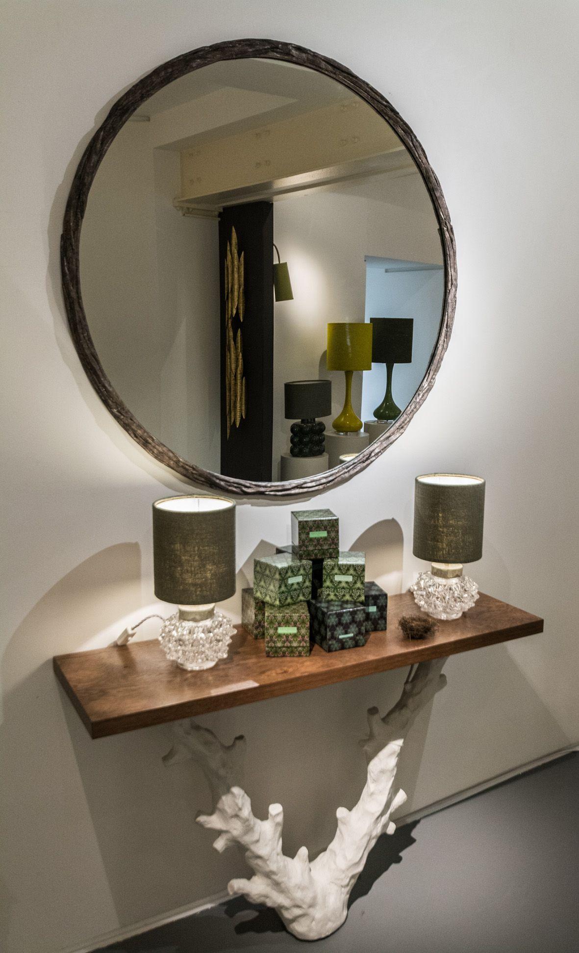 Wonderful Porta Romana | Paris Deco Off 2015 | Hedgehog Lamps | Twig Console Table |  Laurel
