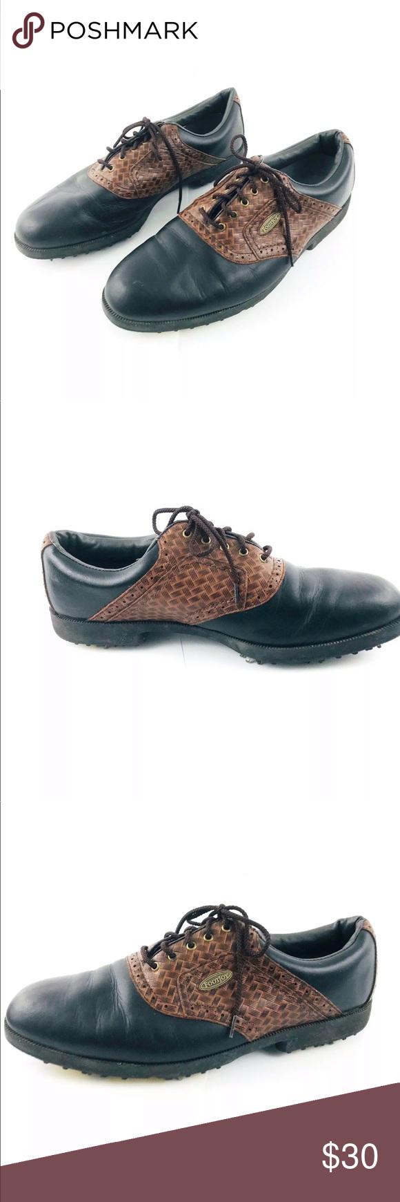 Footjoy Softjoy Terrain Mens Golf Shoes Soft Spike Footjoy Men S Golf Shoes Men S Tag Size 12m Soft Joys Terrain 5 Dress Shoes Men Golf Shoes Mens Mens Golf [ 1740 x 580 Pixel ]