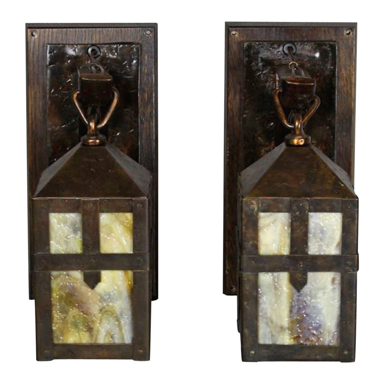 (Chicago & Philadelphia) Monk Lantern Sconces - Pair Of Sears, Roebuck & Co. (Chicago & Philadelphia) Monk Lantern