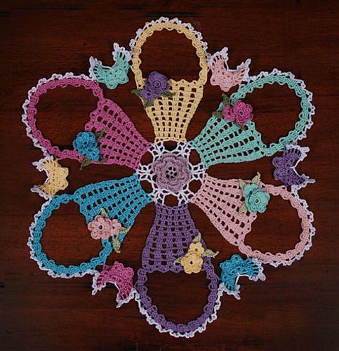 0775 Easter Basket Doily Pattern By Cylinda D Mathews Doily
