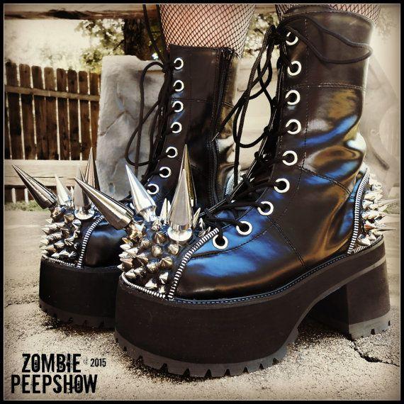 Platform Biohazard Extreme Spike Boots
