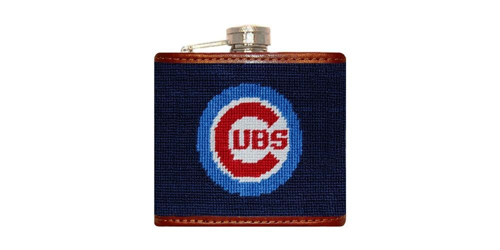 Chicago Cubs Needlepoint Flask