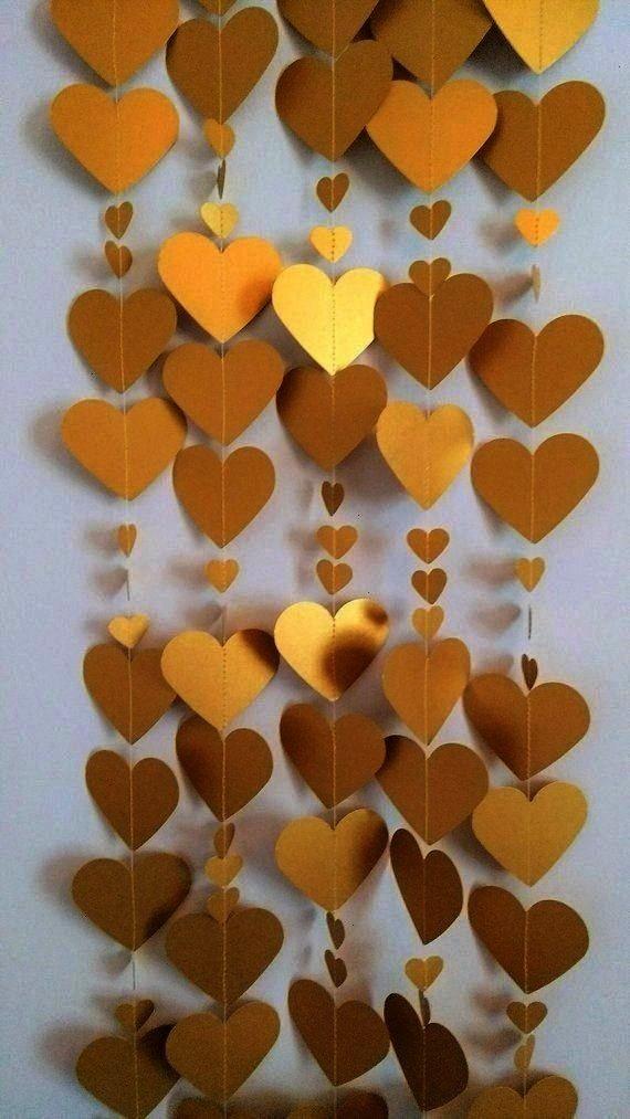 de oro de 8 pies, decoración de San Valentín, guirnalda de boda de oro, decoración de compromiso