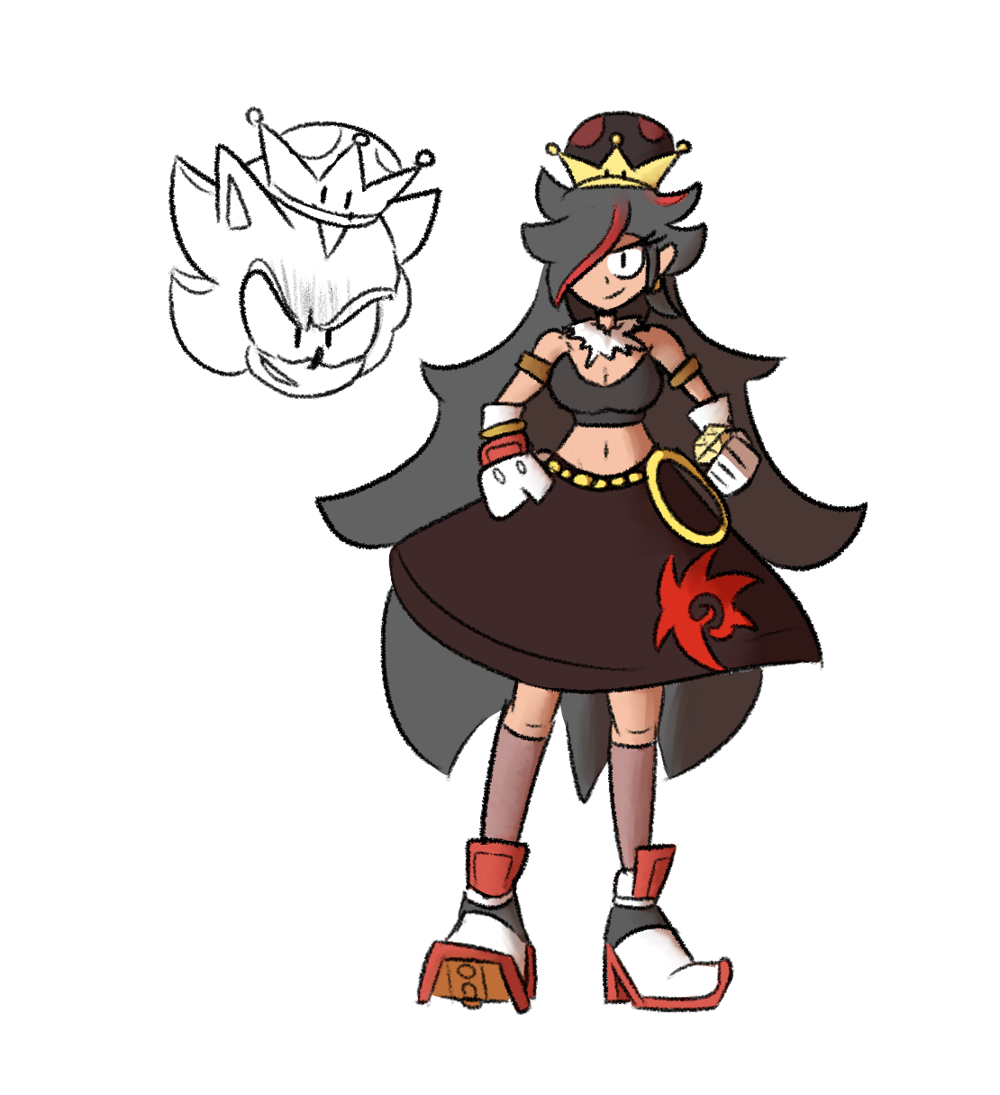 Shadow Ends Up Finding A Strange Crown Peachette Super Crown Sonic Fan Characters Shadow The Hedgehog Sonic