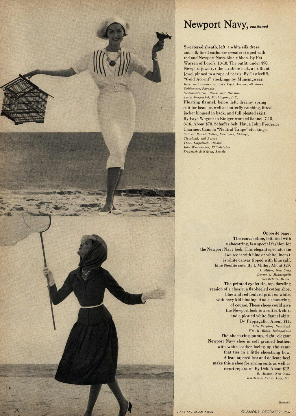 Glamour Editorial The New Year's New Look: Newport Navy, December 1956 Shot #5