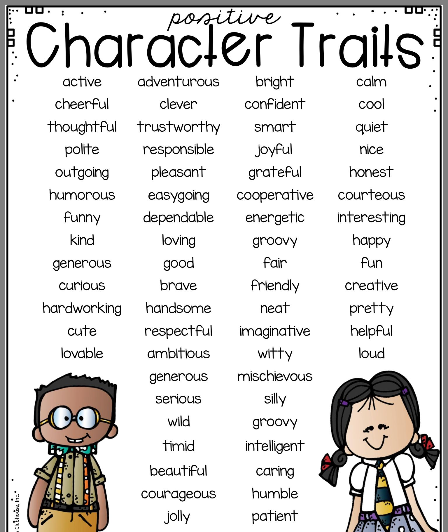 Character Traits For Kids