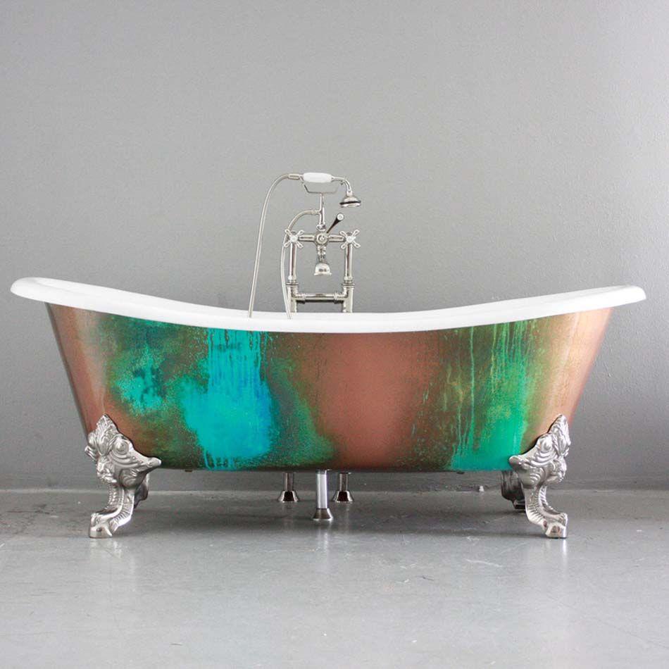 Baignoire de couleur pour relooker et embellir votre salle for Baignoire sur pied design